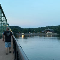 Photo taken at New Hope-Lambertville Toll Supported Bridge by Andrew N. on 7/12/2017