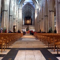 Photo taken at York Minster by Samuel N. on 10/14/2012