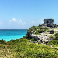 Photo taken at Tulum Archeological Site by Mary L. on 7/24/2013