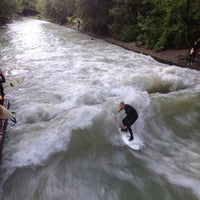Photo taken at Eisbach Wave by Christine M. on 6/13/2013