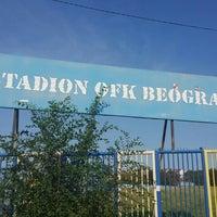 Photo taken at Omladinski stadion   OFK Beograd by Vuk P. on 7/23/2015