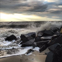Photo taken at Cape May Point/Sunset Beach by Heather B. on 11/4/2012