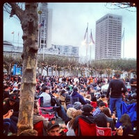 Photo taken at Civic Center Plaza by yoshio s. on 10/29/2012
