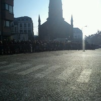 Photo taken at Grand Place de Morlanwelz by Denis S. on 2/17/2013