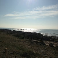 Photo taken at Plage De La Conguel by Nyctalope on 2/19/2013