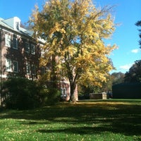 Photo taken at Robertson Hall by Megan F. on 10/25/2012