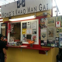 Photo taken at Nong's Khao Man Gai by Jenson P. on 11/1/2012