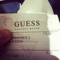 Photo taken at GUESS Factory by Daniel I. on 11/24/2012
