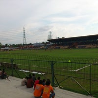 Photo taken at Stadion Krida Rembang by Zakie M. on 12/23/2012