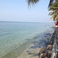 Photo taken at Wonnapa Beach by Non on 1/20/2013