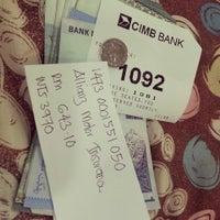 Photo taken at CIMB Bank by Nuyu R. on 3/6/2013