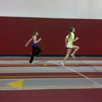Photo taken at Central College Indoor Track by Ryan I. on 3/22/2014