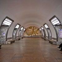 Photo taken at metro Elektrosila by Fоursquаrе по-русски on 10/28/2012