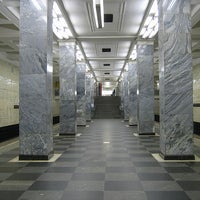 Photo taken at metro Sokolniki by Fоursquаrе по-русски on 10/29/2012
