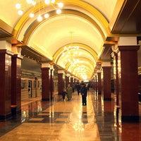 Photo taken at Станция метро «Проспект Победы» by Fоursquаrе по-русски on 11/2/2012