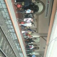 Photo taken at Stasiun Kemayoran by Riana S. on 9/21/2012