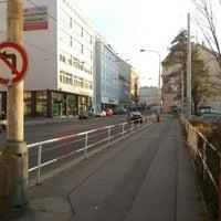 Photo taken at Palmovka (tram, bus, trol) by Petr I. on 11/24/2012