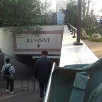 Photo taken at 4. Levent Metro İstasyonu by Gokcen G. on 11/27/2012