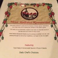 Photo taken at Mesa Italian Restaurant by Suzanne K. on 11/12/2012