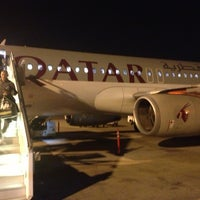 Photo taken at Doha International Airport (DOH) مطار الدوحة الدولي by Valentini K on 5/18/2013