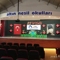 Photo taken at Özel Altinnesil Okullari by Dilek D. on 4/23/2018