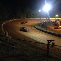 Photo taken at Lancaster Speedway by Jenny D. on 4/6/2014