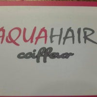 Photo taken at Aqua Hair Coiffeur by Tuba Ç. on 8/2/2014