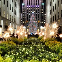 Photo taken at Rockefeller Center Christmas Tree by Brady G. on 12/21/2012