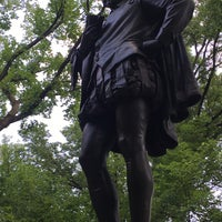 Photo taken at William Shakespeare Statue by Sean M. on 7/12/2017