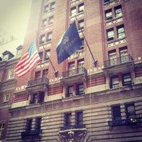 Photo taken at Club Quarters Hotel, opp Rockefeller Center by Stanley X. on 9/30/2012