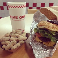 Photo taken at Five Guys by Aurélie S. on 10/30/2012