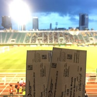 Photo taken at Supachalasai Stadium by Latthawan on 7/23/2017