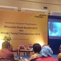Photo taken at Mandiri Prioritas Plaza Mandiri by dascoblue on 9/23/2013