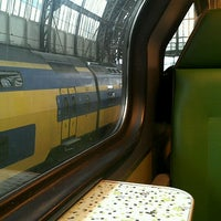 Photo taken at Sprinter Amsterdam Centraal - Hoofddorp by Rebecca V. on 10/5/2012