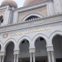 Photo taken at Istana Kehakiman (Palace of Justice) by Yap C. on 4/17/2013