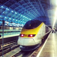 Photo taken at London St Pancras International Eurostar Terminal by Thomas M. on 1/10/2013