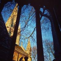 Photo taken at St Mary Abbots Gardens by Gabi J. on 2/21/2014