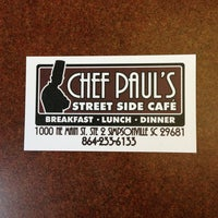 Photo taken at Chef Paul's Street Side Cafe by Jason M. on 7/31/2013