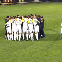 Photo taken at U-M Soccer Complex by Liz D. on 10/6/2012