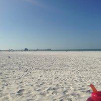 Photo taken at Sandpearl Resort Beach by Tampa G. on 1/12/2013