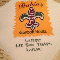 Photo taken at Babin's Seafood House by Allie G. on 12/31/2012