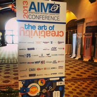 Photo taken at AIM Conference by Darcey F. on 4/29/2013