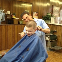 Photo taken at Sal's Barber Shop by Sharon Y. on 8/5/2013