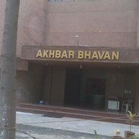 Photo taken at Akhbar Bhavan by Kartik P. on 9/16/2013