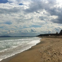 Photo taken at Централен Плаж Бургас (Burgas Central Beach) by LOVE on 4/4/2013