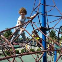 Photo taken at Zachary's Playground - Hawk Ridge Park by Ryane L. on 9/29/2013