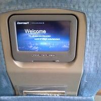 Photo taken at EgyptAir Flight MS 21 SSH-CAI by Maxi M. on 9/14/2013