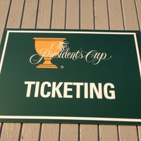 Photo taken at The Presidents Cup Ticket Operations by Greg K. on 10/1/2013