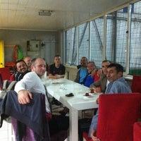 Photo taken at Dolunay Halı Saha by Semih N. on 10/6/2015