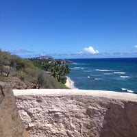 Photo taken at Amelia Earhart marker at Diamond Head Lookout by Beth W. on 10/11/2013